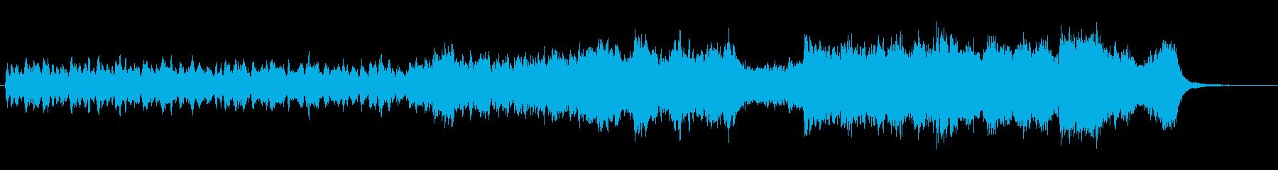 マイナーキーの高揚感あるサウンドトラックの再生済みの波形