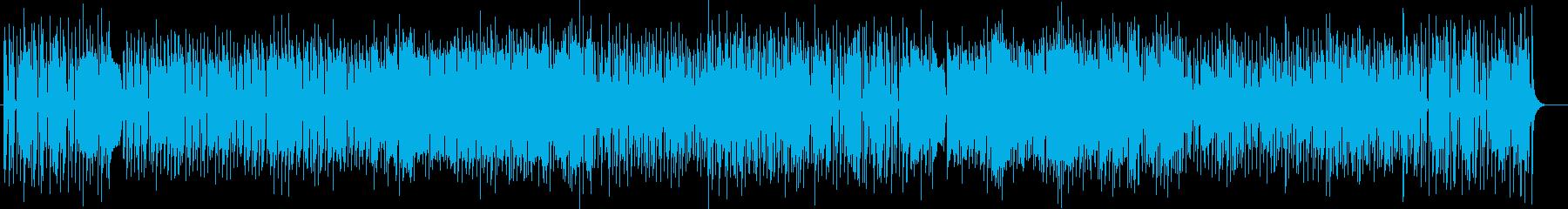 コミカルなシンセ・金属楽器などの曲の再生済みの波形