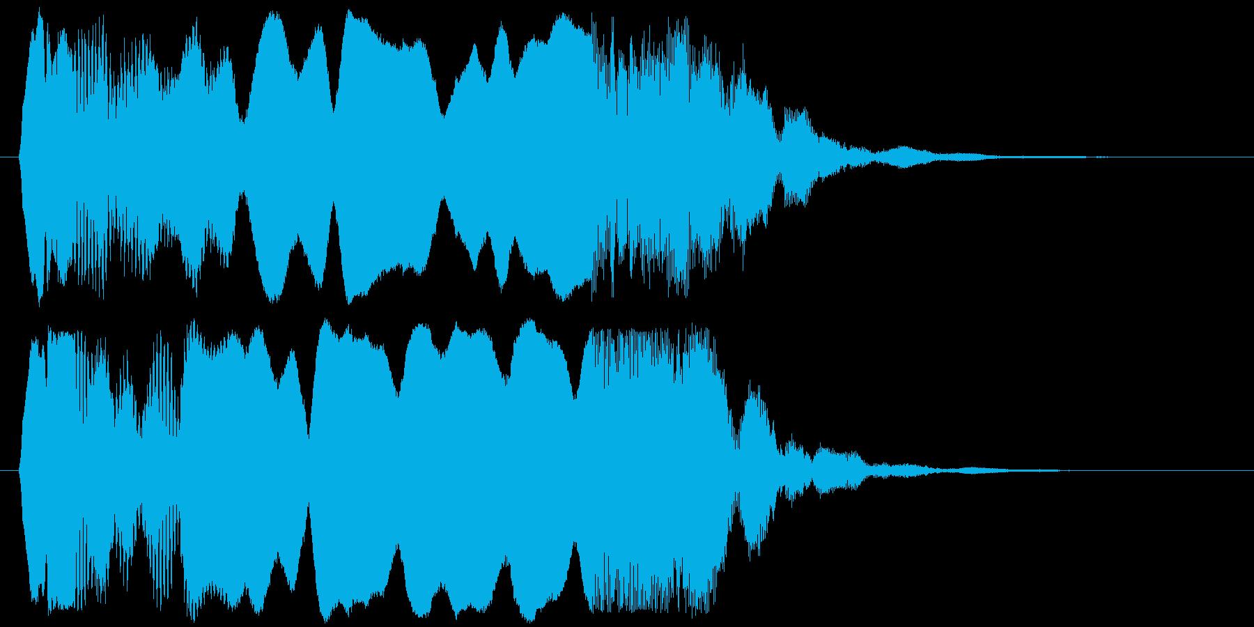 和風な効果音ですの再生済みの波形
