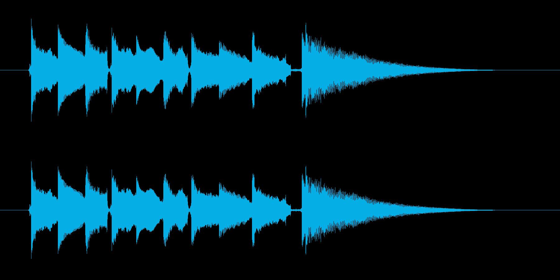 美しく切ないギター音(弦、弾く)の再生済みの波形