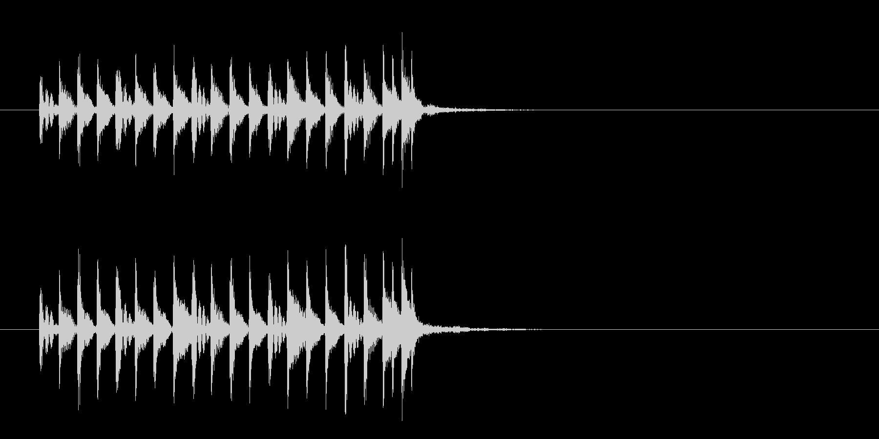 ジングル(はい!時間切れです風)の未再生の波形