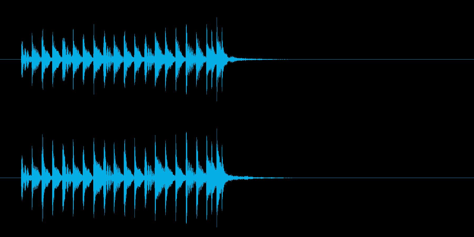 ジングル(はい!時間切れです風)の再生済みの波形