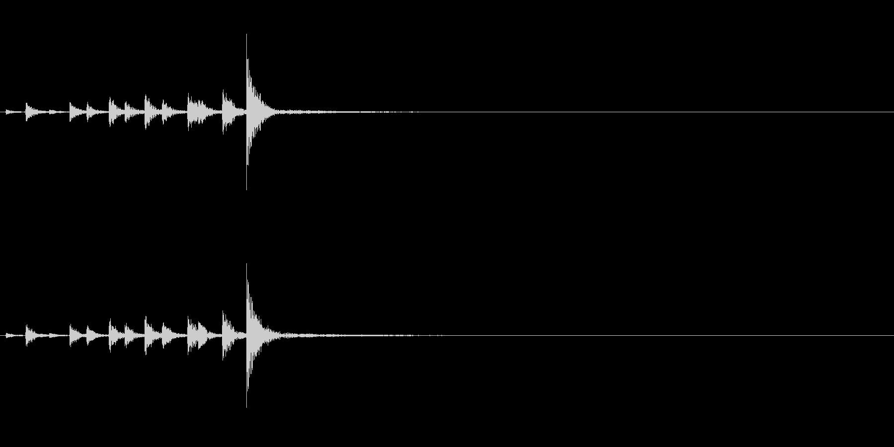 相撲などの触れ太鼓「大拍子」連続音1FXの未再生の波形