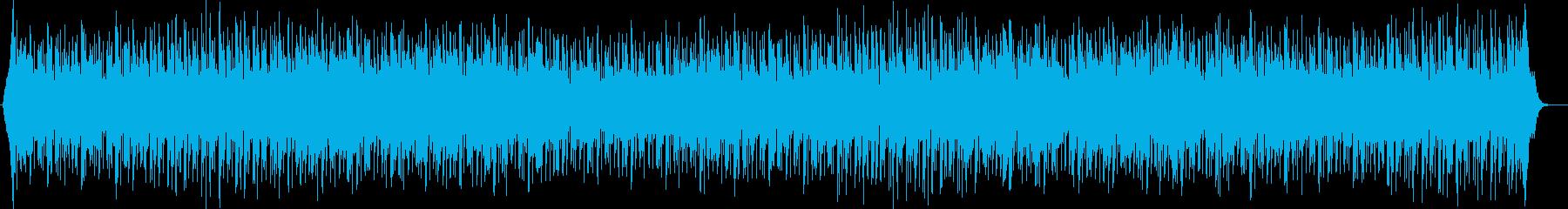 軽快でリズミカルなドラムが特徴のポップスの再生済みの波形
