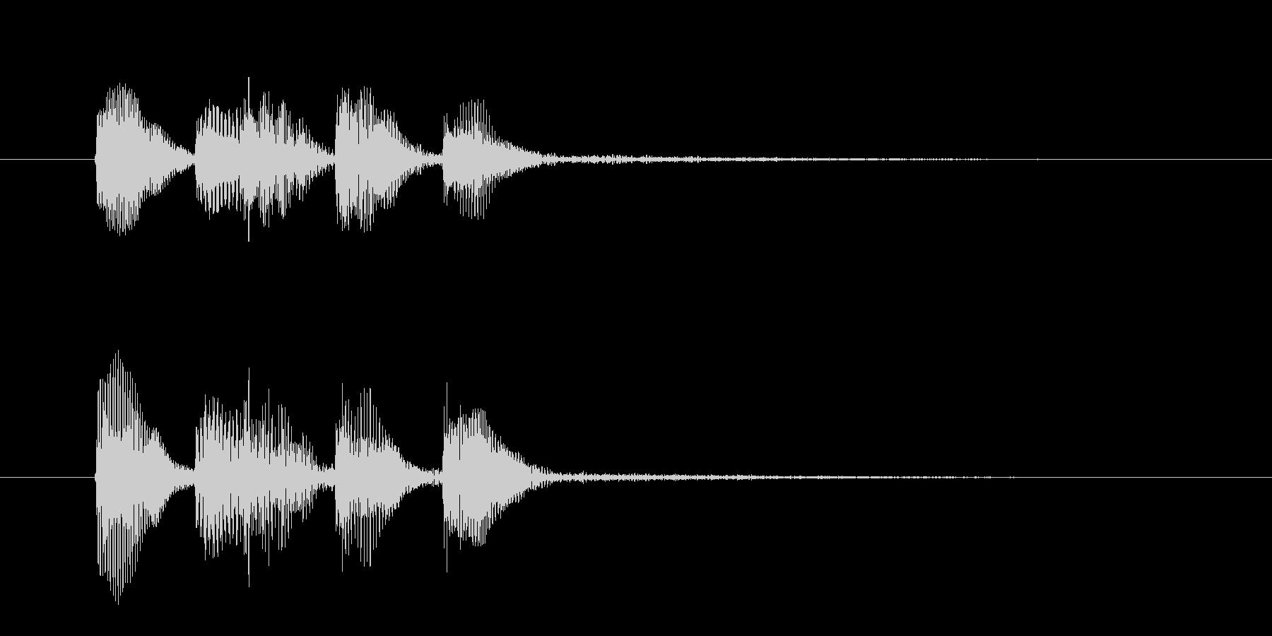 ピアノだけの低音が格好いいジングルの未再生の波形