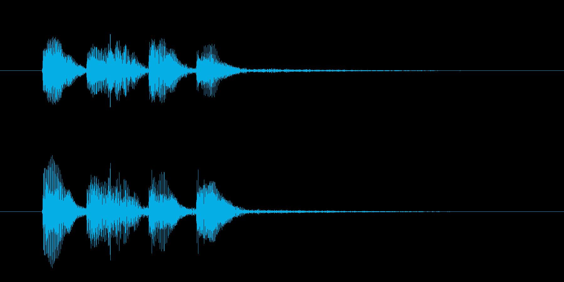 ピアノだけの低音が格好いいジングルの再生済みの波形