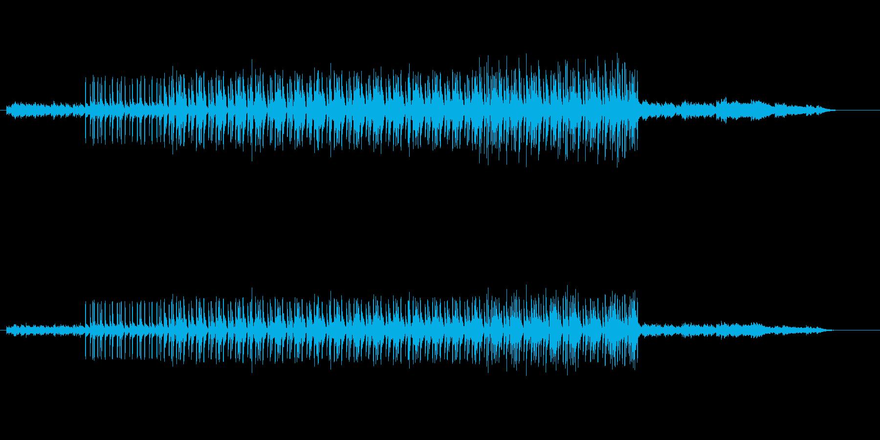 テクノ・ハウス系の曲の再生済みの波形