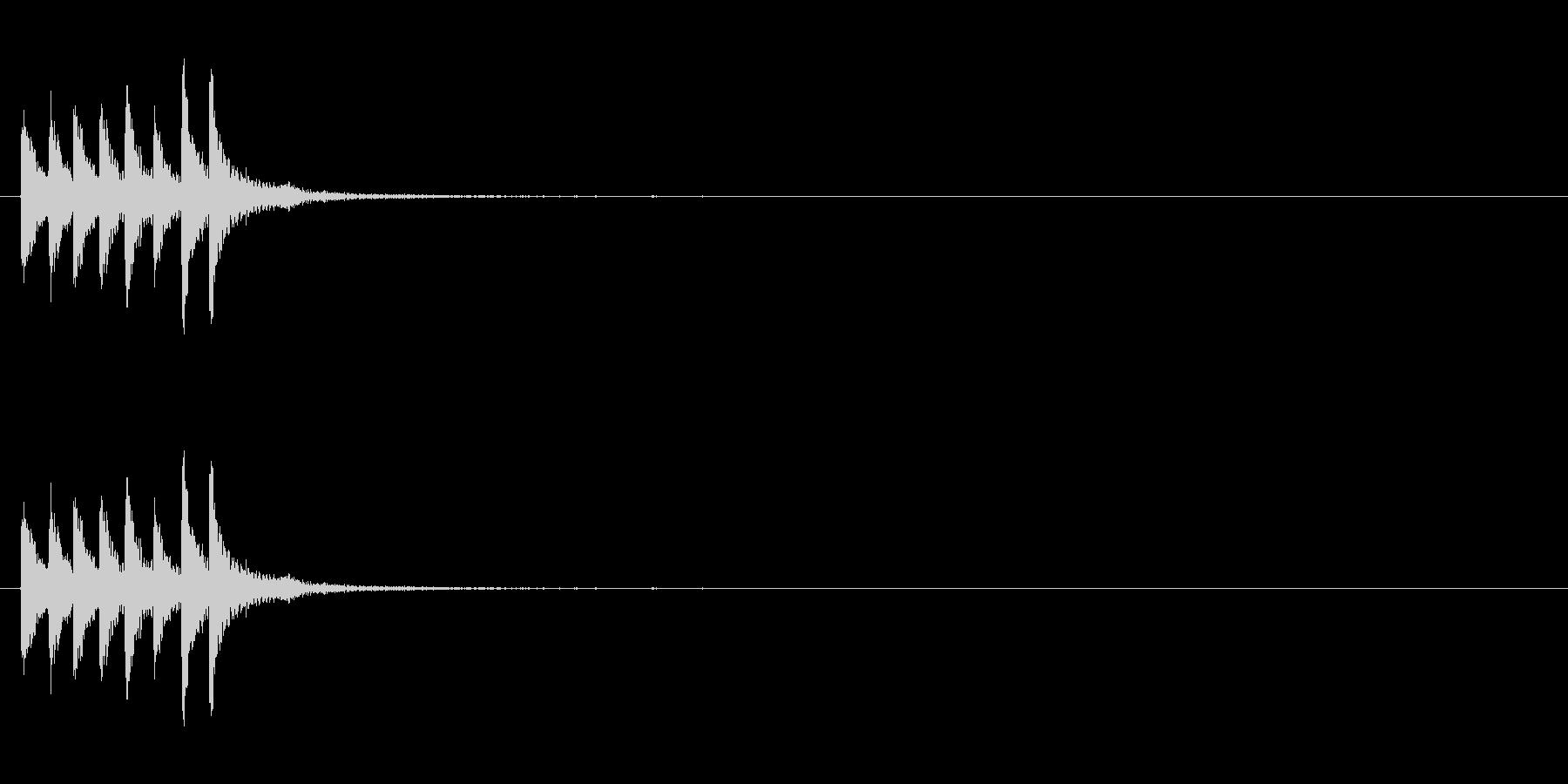 スチールドラムの上昇音【キラキラキラ】…の未再生の波形