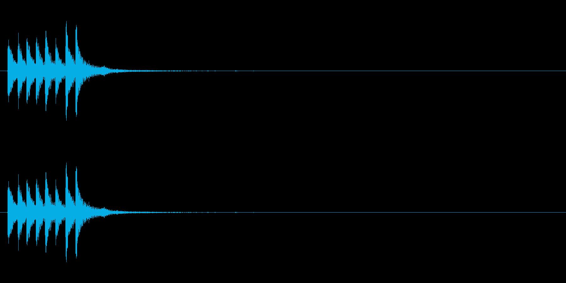 スチールドラムの上昇音【キラキラキラ】…の再生済みの波形