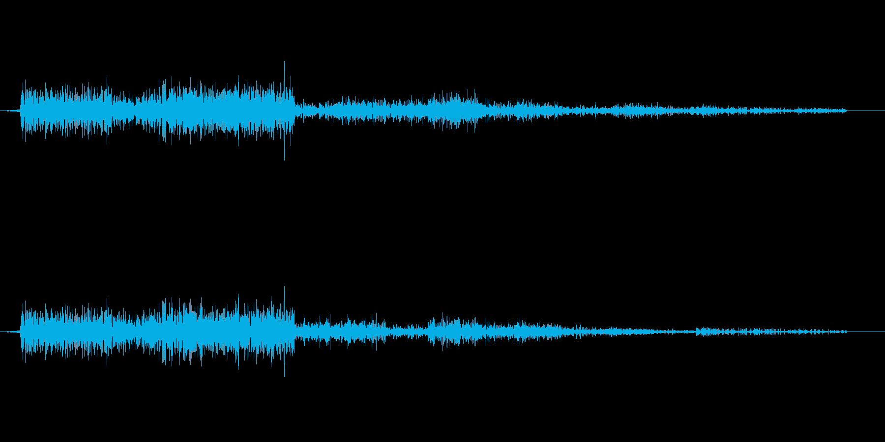 魔法『雷』バリバリの再生済みの波形