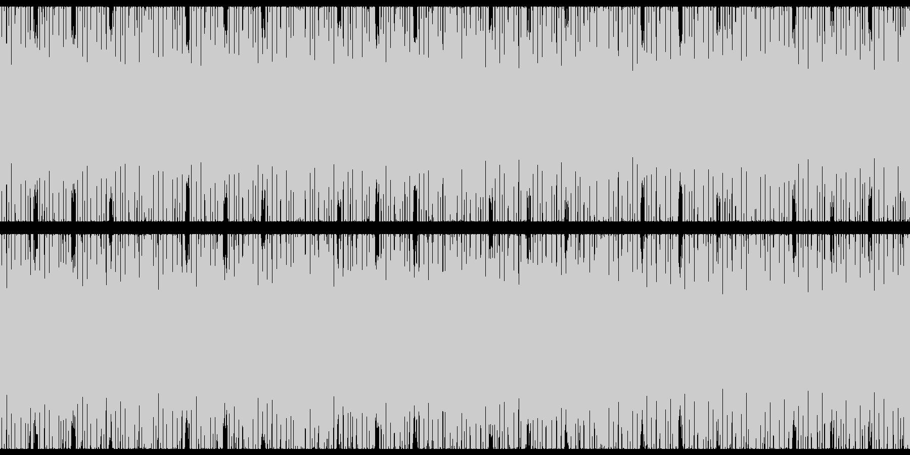 ピコピコキラキラテクノポップの未再生の波形