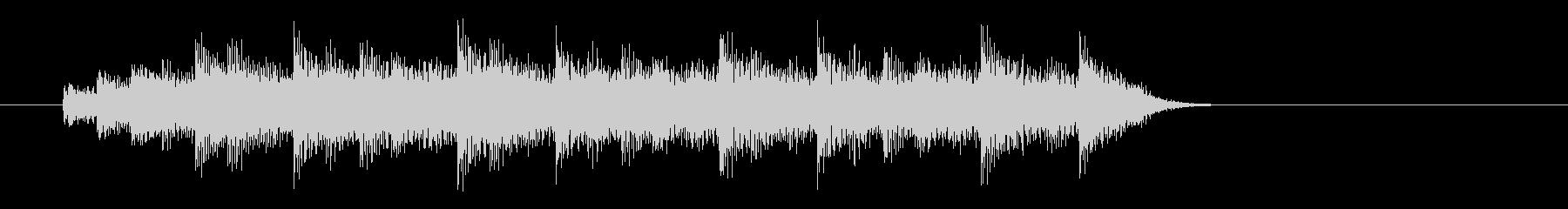 モダンなピアノコードによるジングル2の未再生の波形