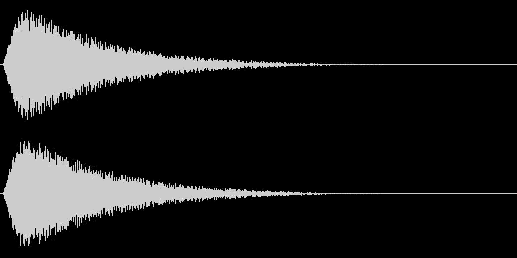 ピューーーゥの未再生の波形