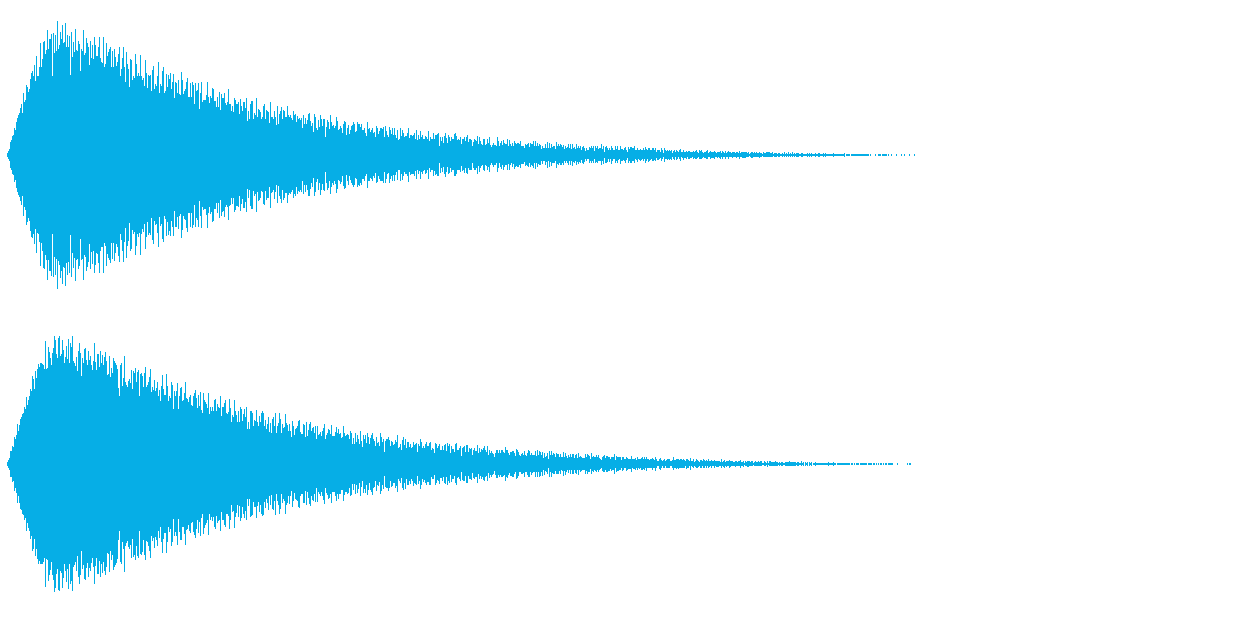 ピューーーゥの再生済みの波形