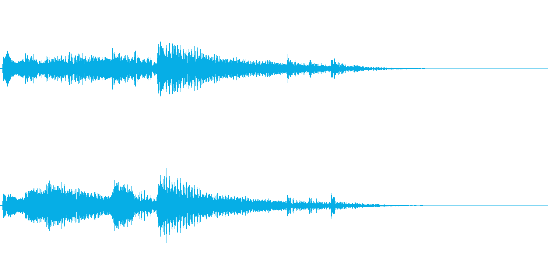 ナイロンギターのアイキャッチ(爽やか)の再生済みの波形