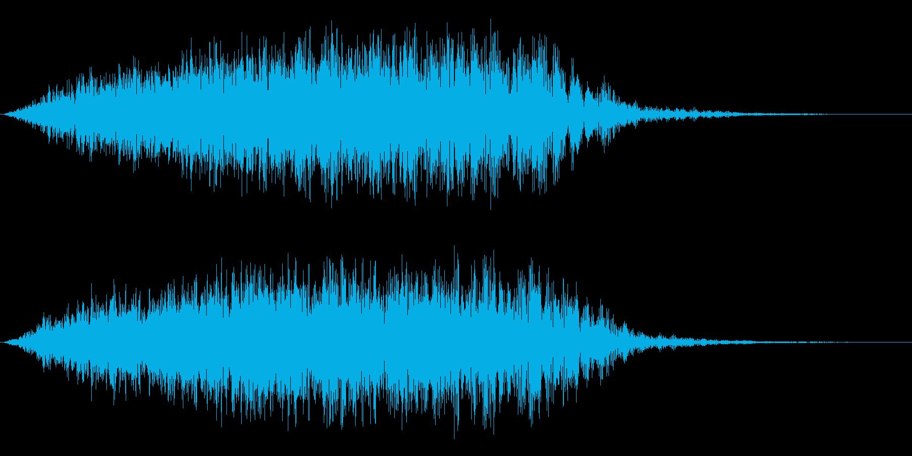 シューン(パッド系、起動音)の再生済みの波形