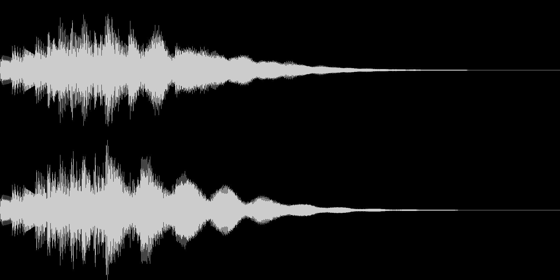 システム音の未再生の波形