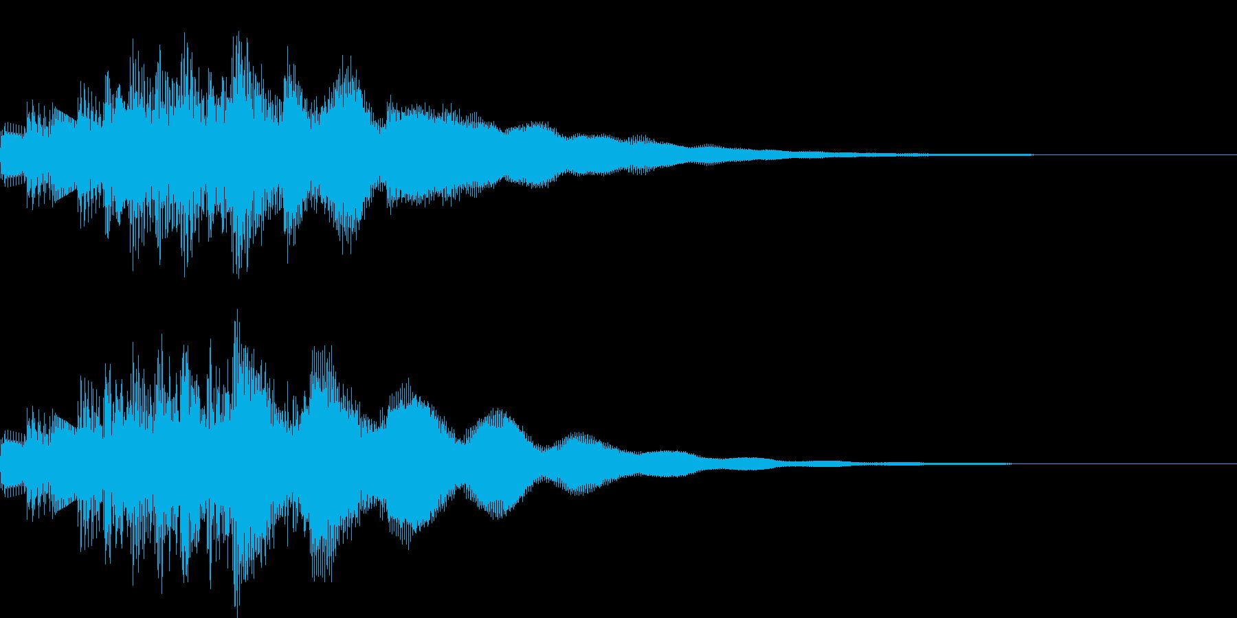 システム音の再生済みの波形