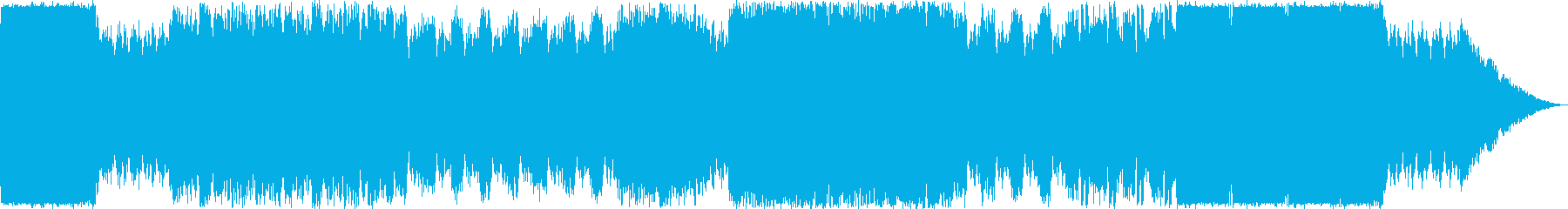 力強い戦闘楽曲の再生済みの波形