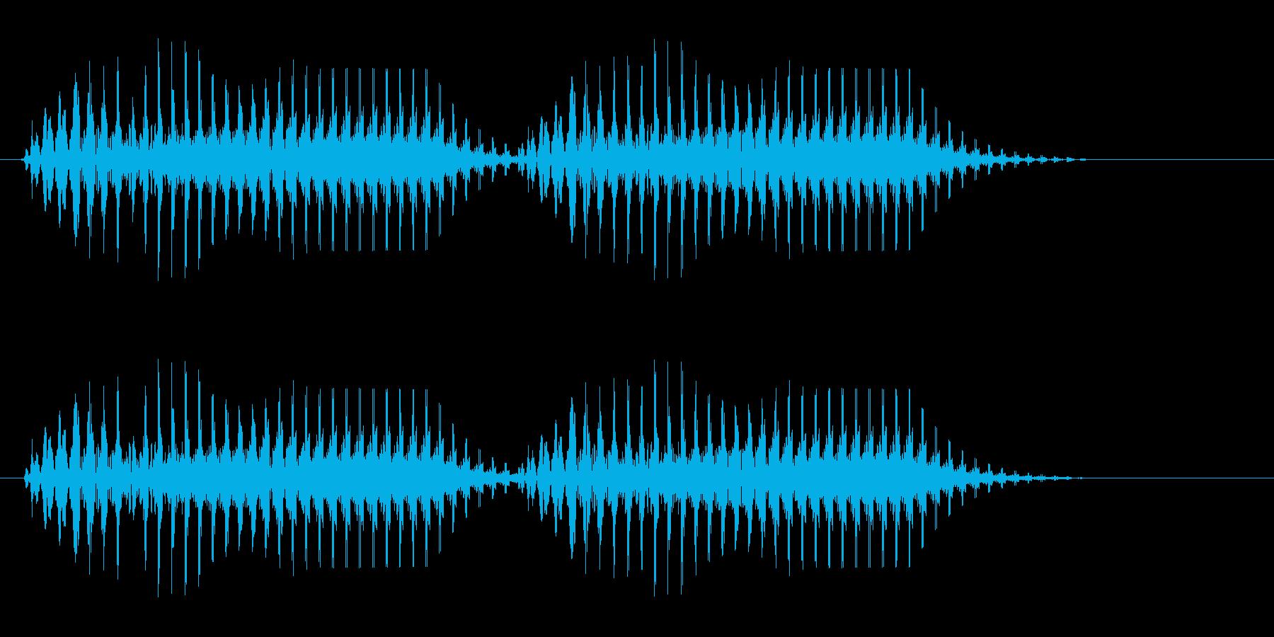 ブゥブゥ(年代物クラクションによる合図)の再生済みの波形