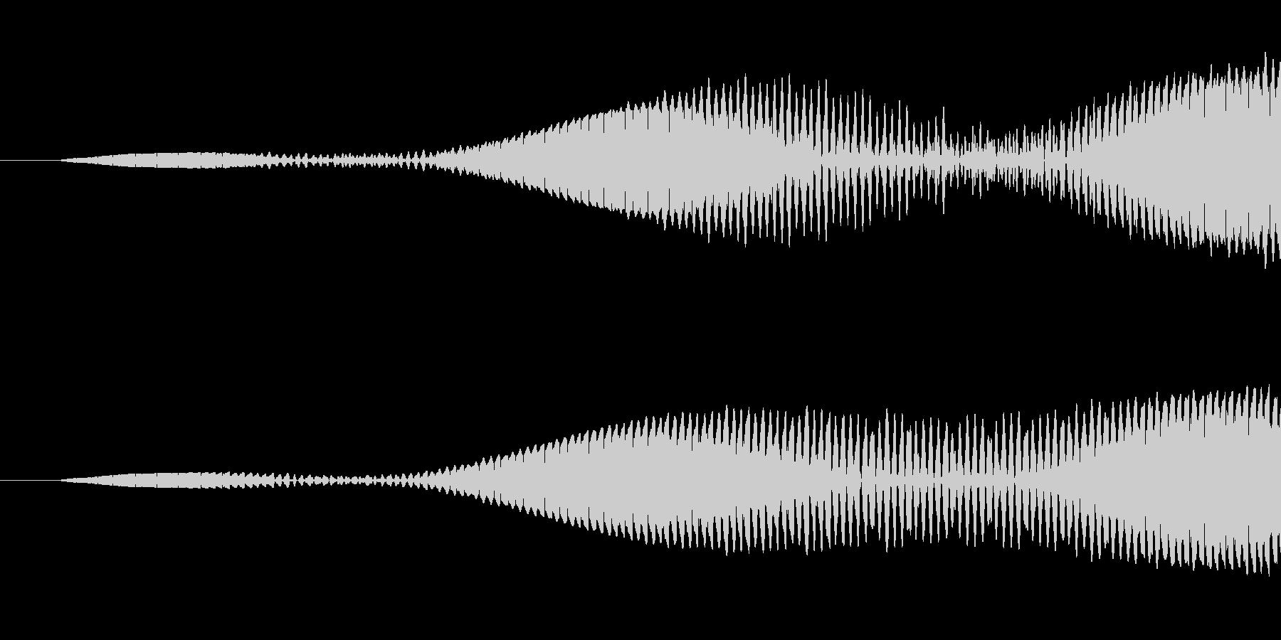 エラー音の未再生の波形