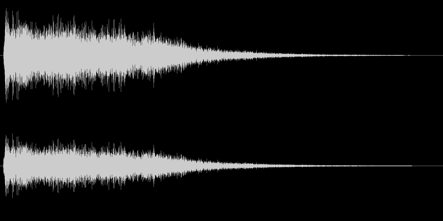 シャーン(シンバルの音)の未再生の波形