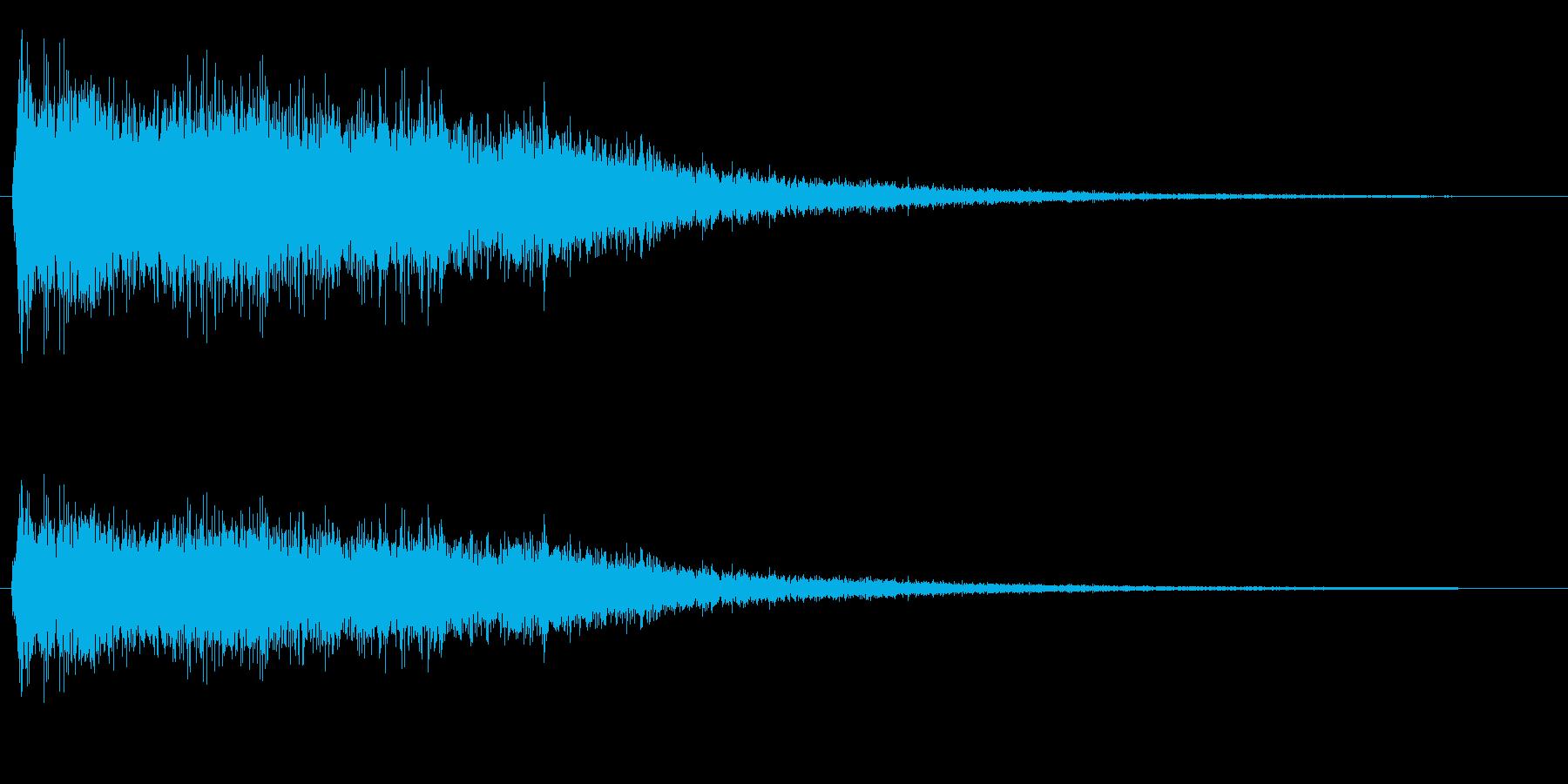 シャーン(シンバルの音)の再生済みの波形