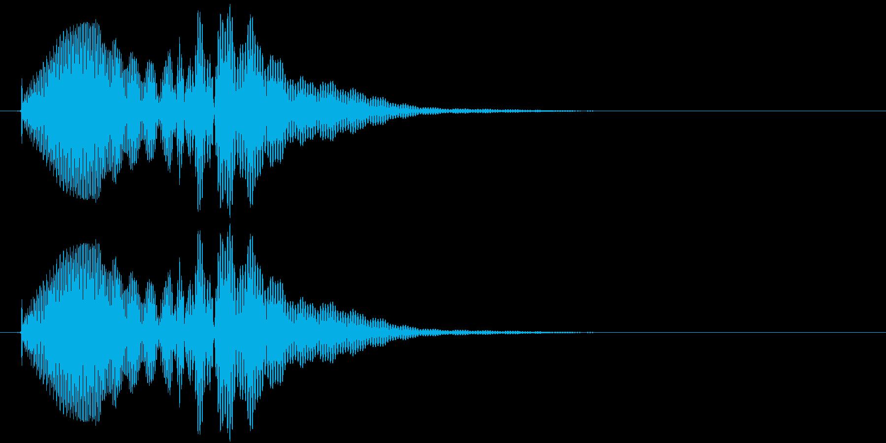 ポロロン(アプリ、ゲーム、決定)の再生済みの波形