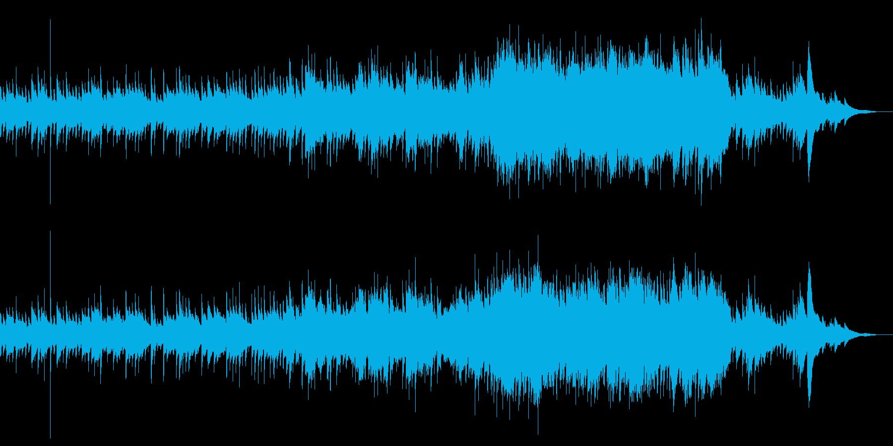 アコギと弦楽器の優しくて穏やかな曲の再生済みの波形