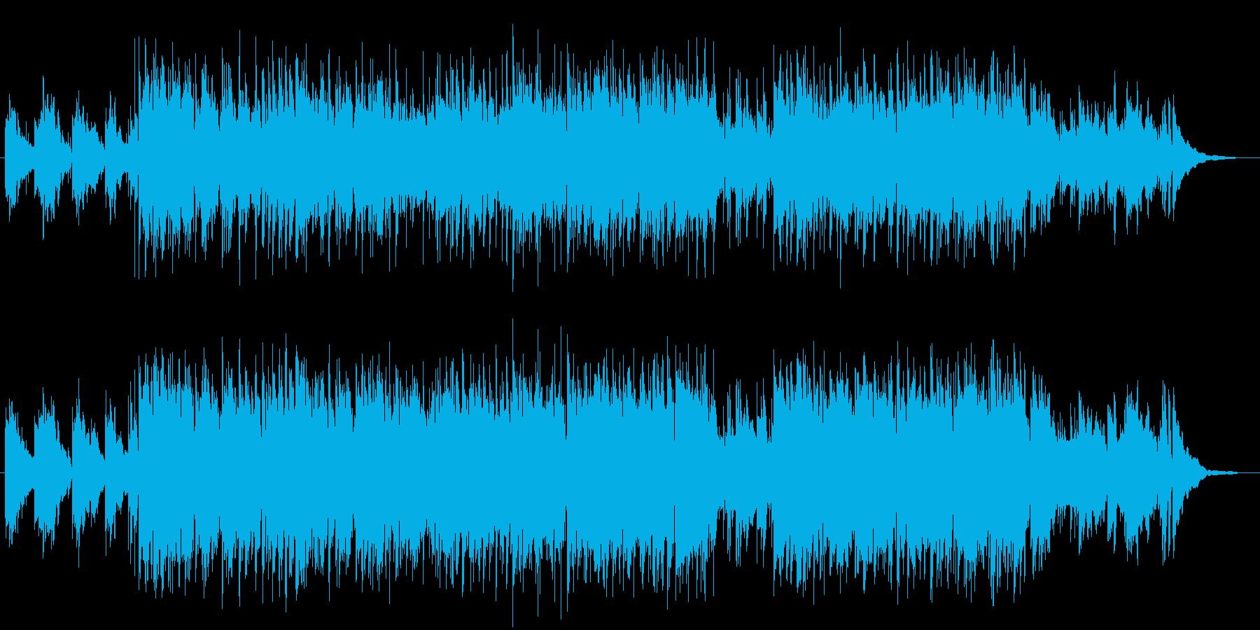 楽しい気持ちになれる明るいメロディの再生済みの波形