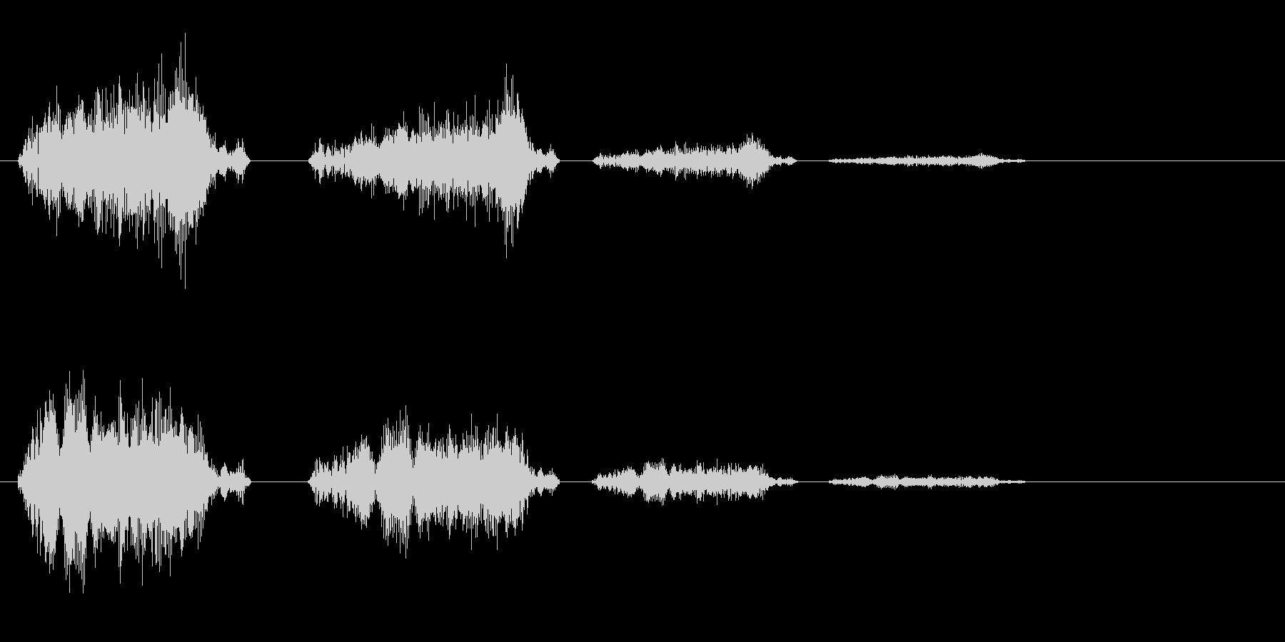 チュ〜チェ↑チェチェの音の未再生の波形