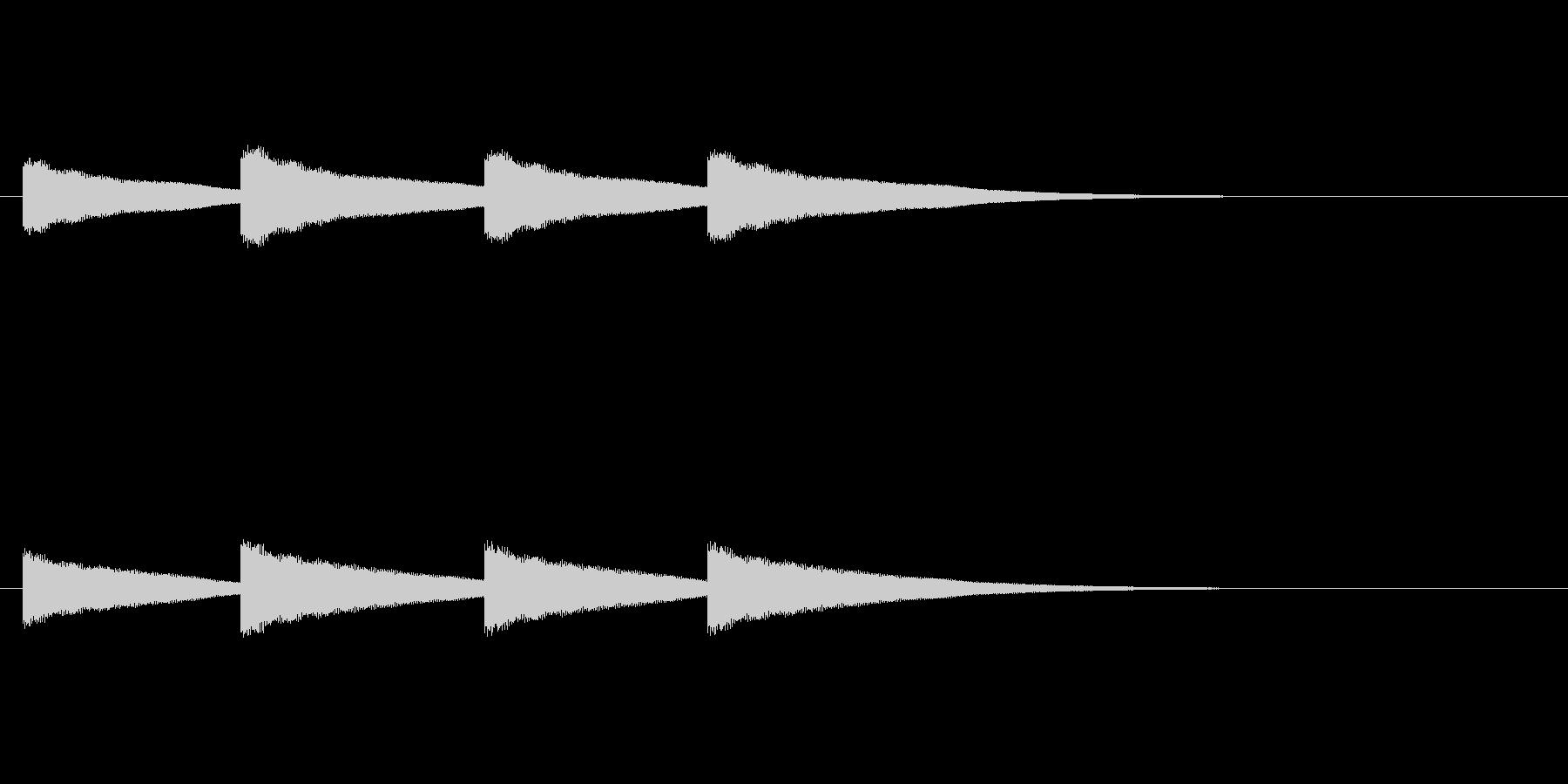 鐘の音(カーン×4回)の未再生の波形