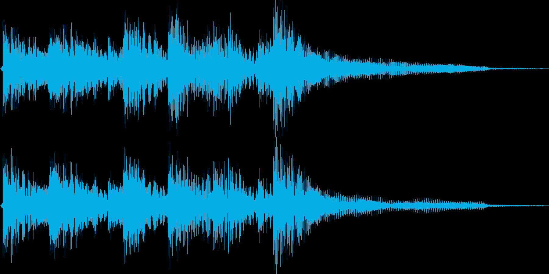 ポップ(メジャー調)のジングルです。の再生済みの波形