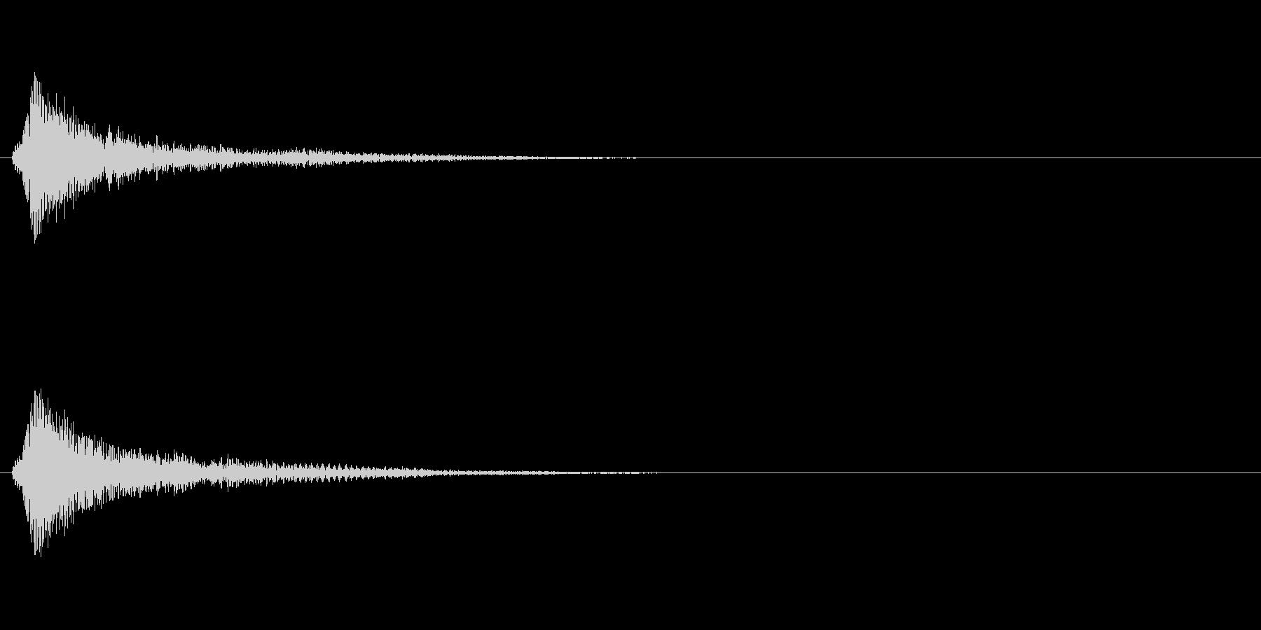 ゲームの決定音・カーソル音に向いた効果…の未再生の波形