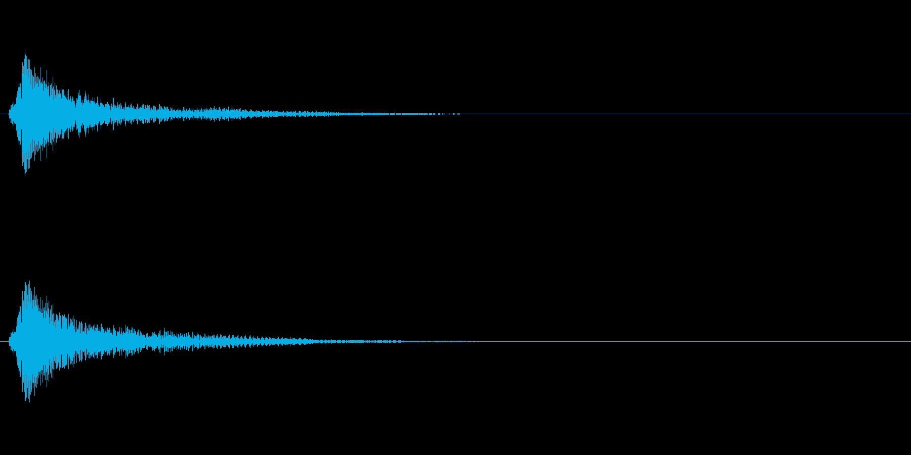 ゲームの決定音・カーソル音に向いた効果…の再生済みの波形