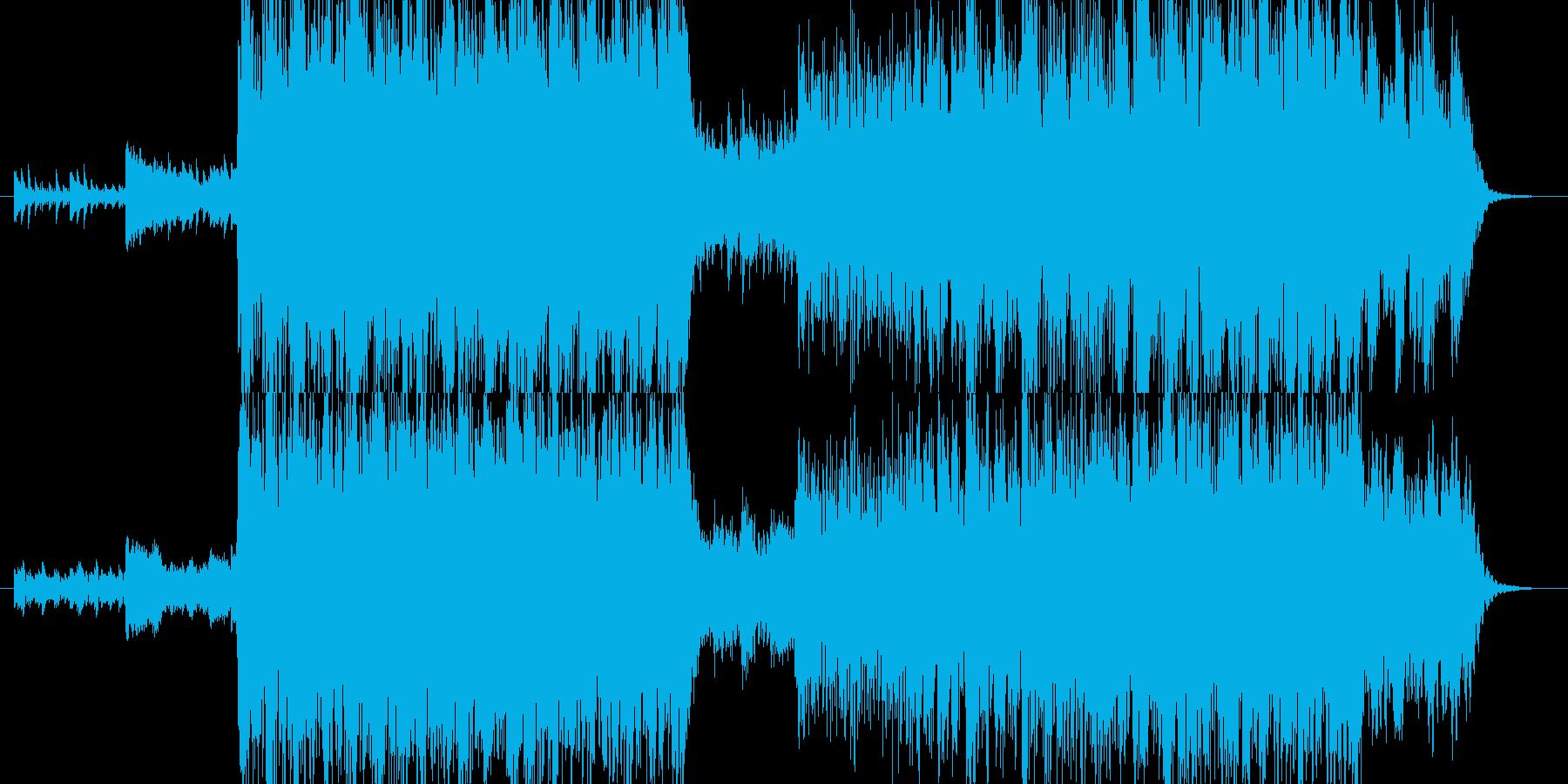 スタイリッシュなドラムンベースの再生済みの波形