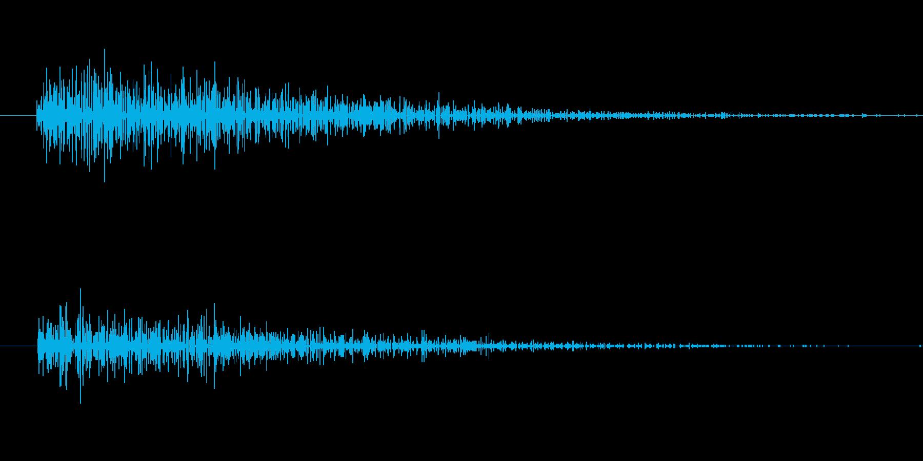 炎・爆発(ファミコン風・音高め)の再生済みの波形