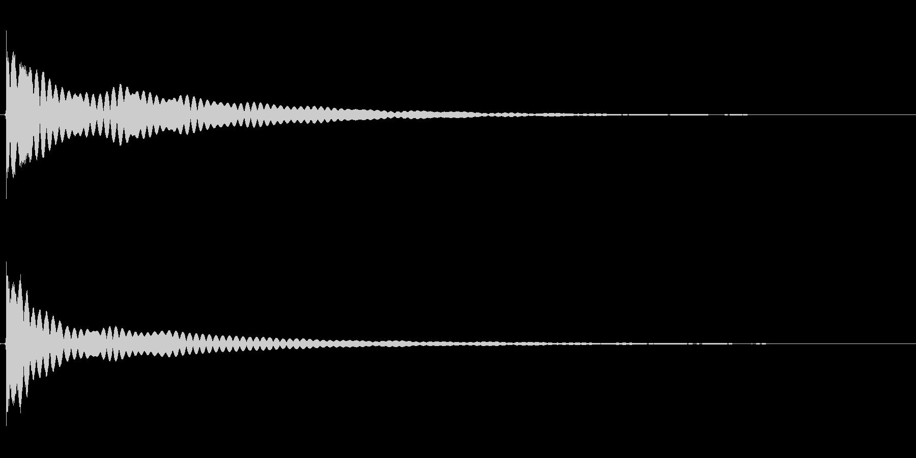 金的攻撃を食らう(チーン)の未再生の波形