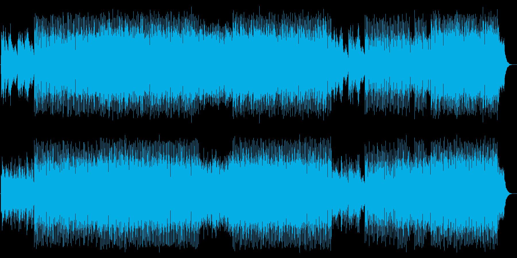 キラキラと宇宙感のシンセサイザーテクノの再生済みの波形