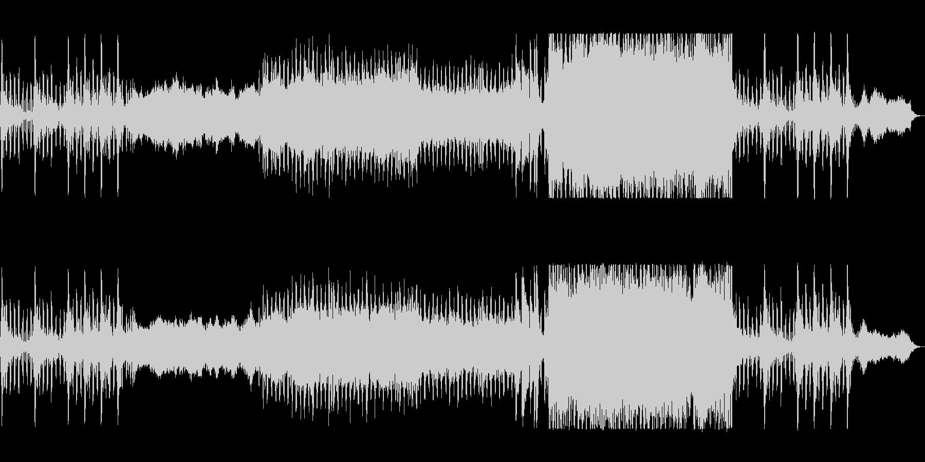 ポジティブポップなテクノ応援サウンドの未再生の波形