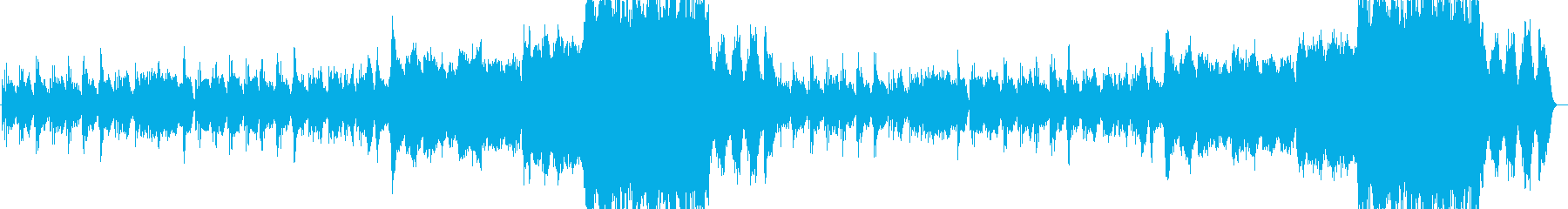 不安を掻き立てるダークなピアノメロディーの再生済みの波形