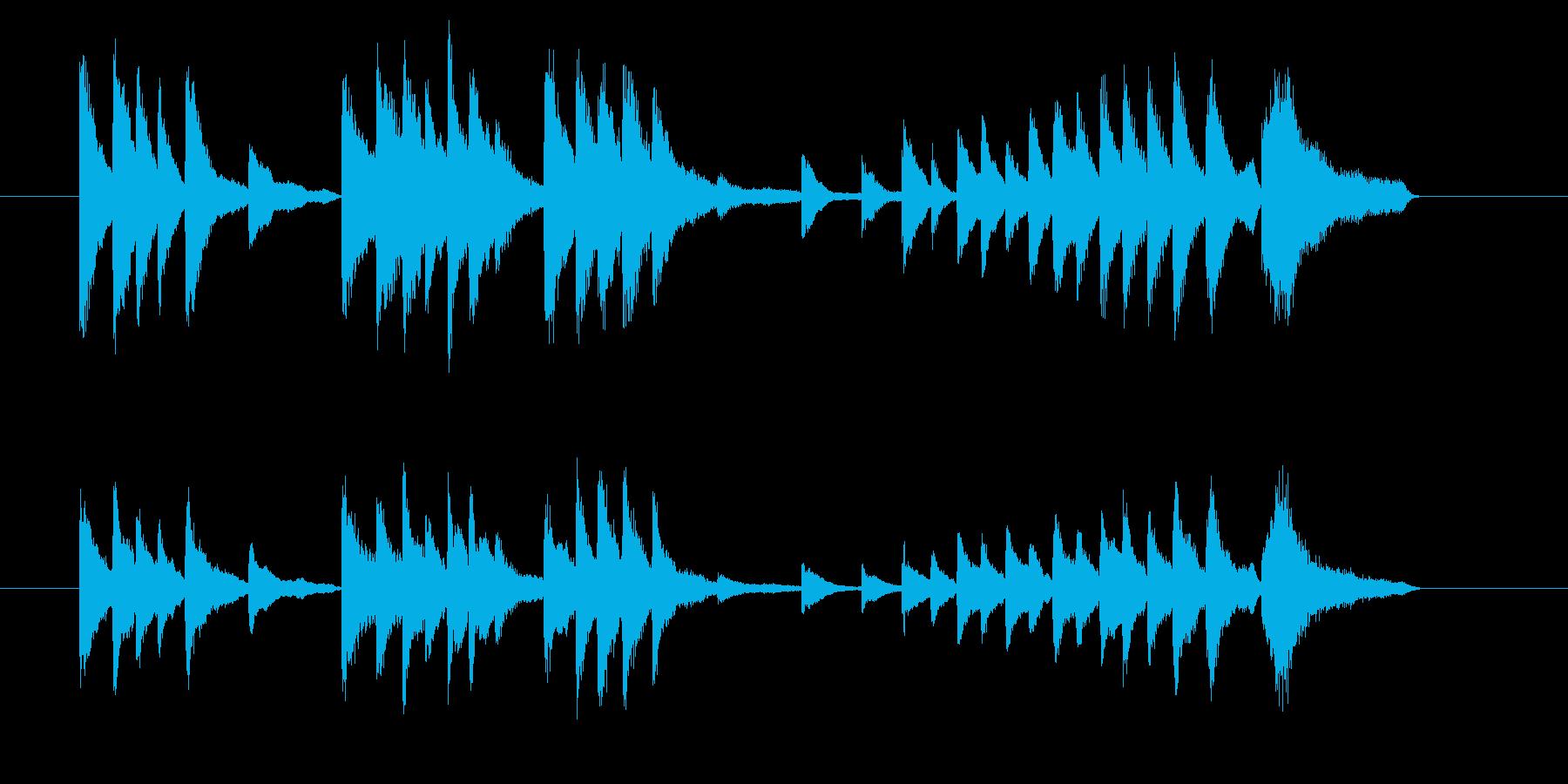 40秒のピアノ曲です。短歌などに見られ…の再生済みの波形