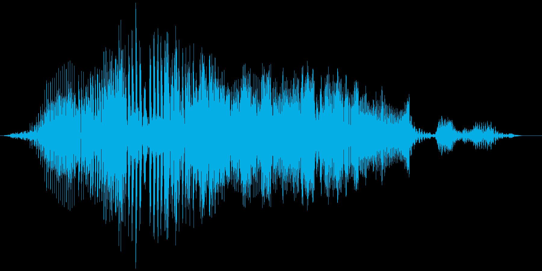 空腹でお腹がグウと鳴る音03の再生済みの波形