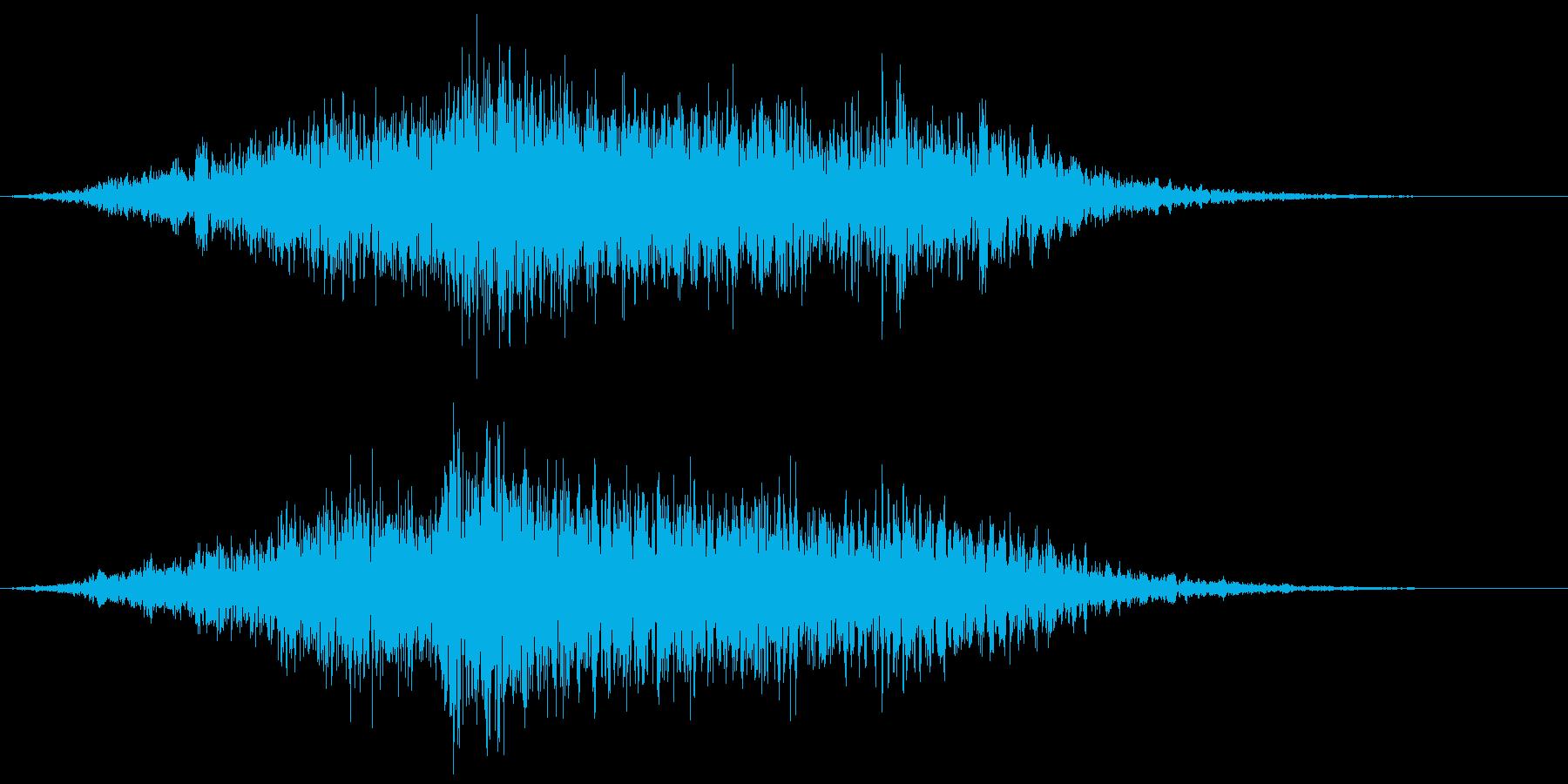 ゾンビのうめき声ウオォォの再生済みの波形