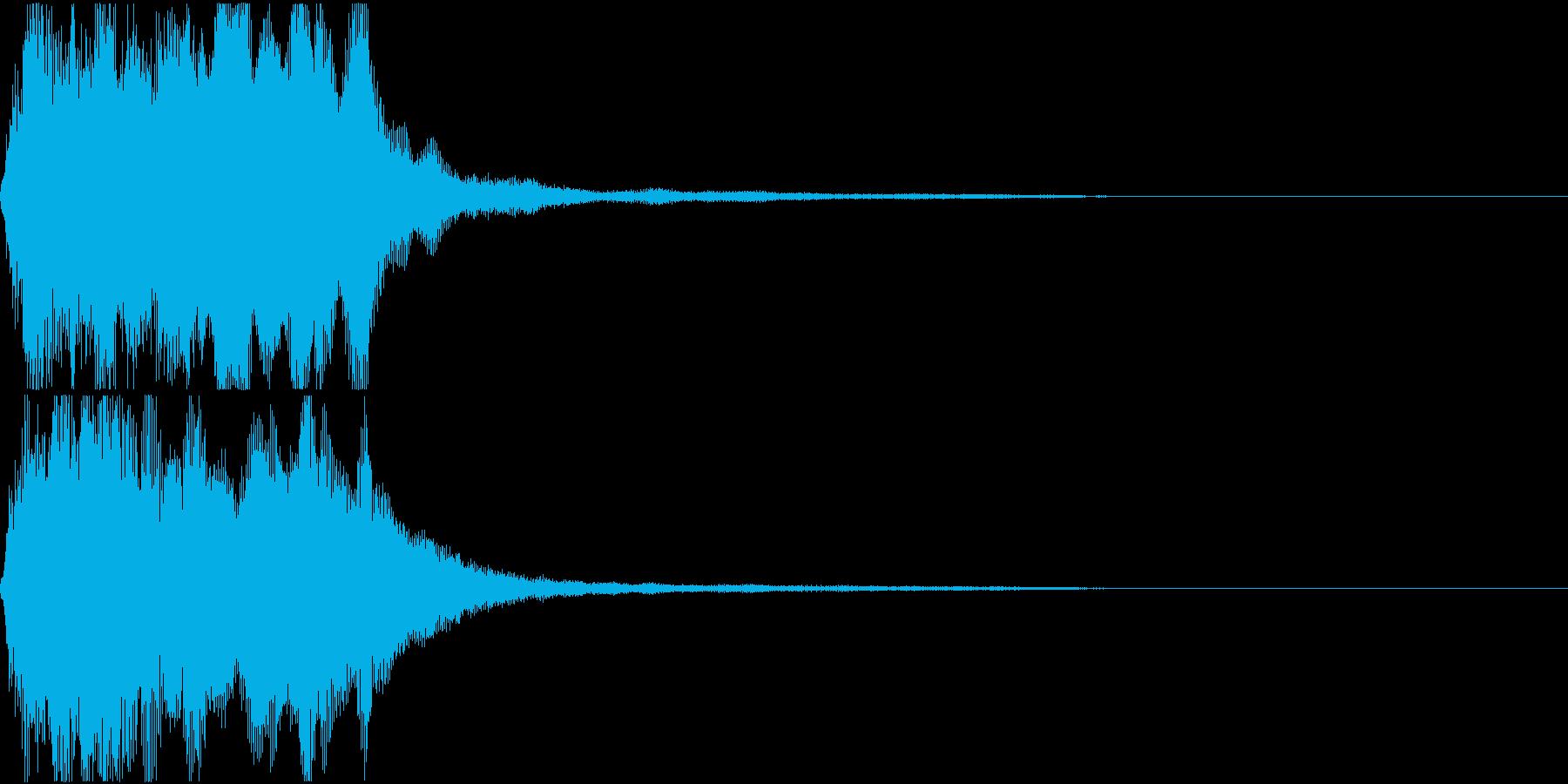 ラッパ ファンファーレ 定番 8 早いの再生済みの波形