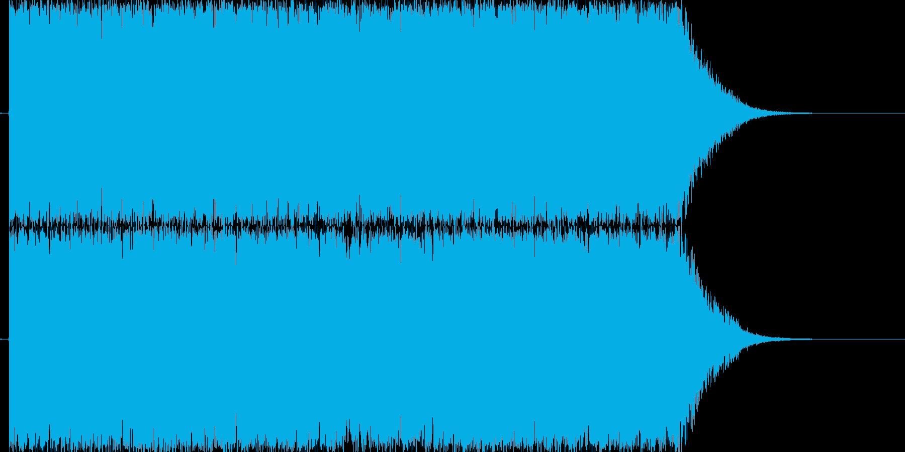 短いTrance系の楽曲の再生済みの波形