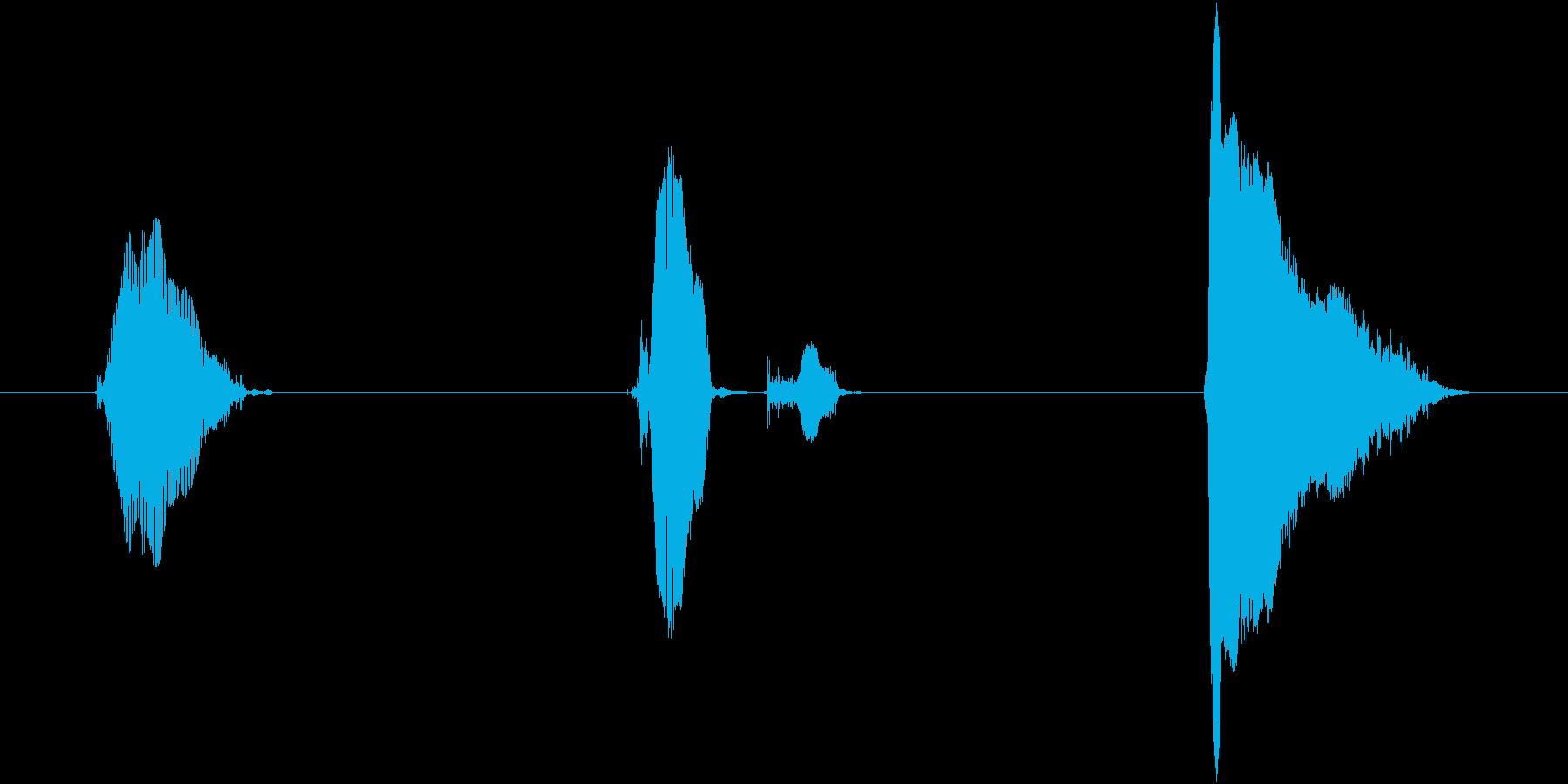 ぐー、ちょき、ぱー!の再生済みの波形