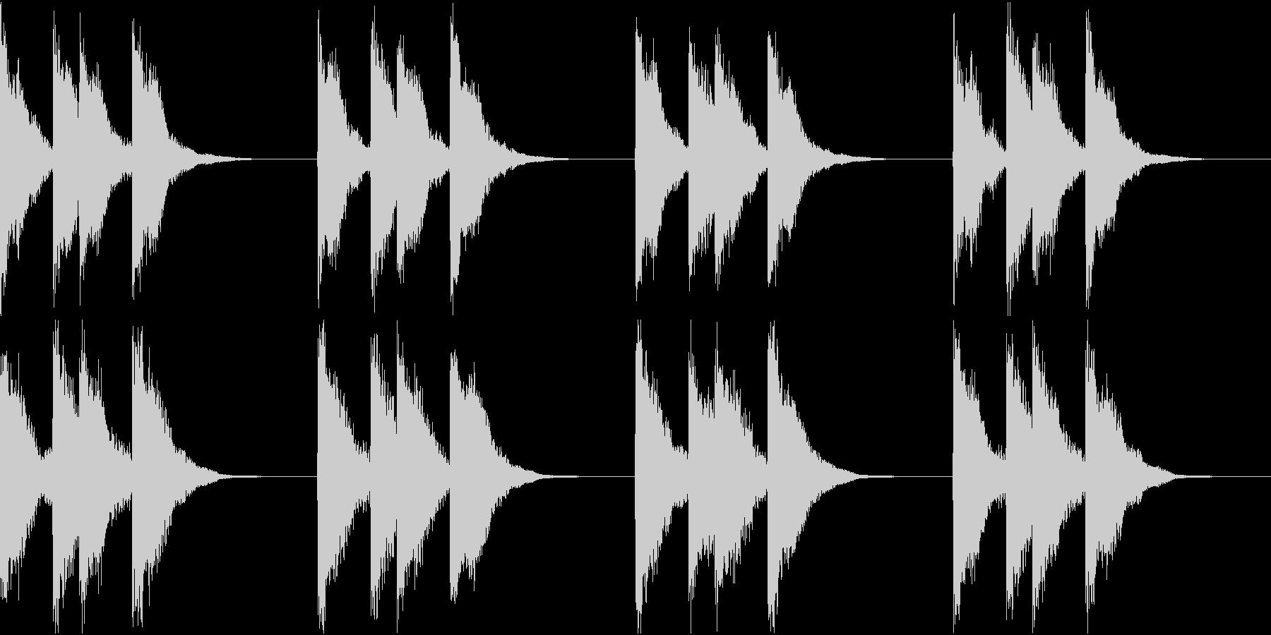 シンプル ベル 着信音 チャイム A-7の未再生の波形