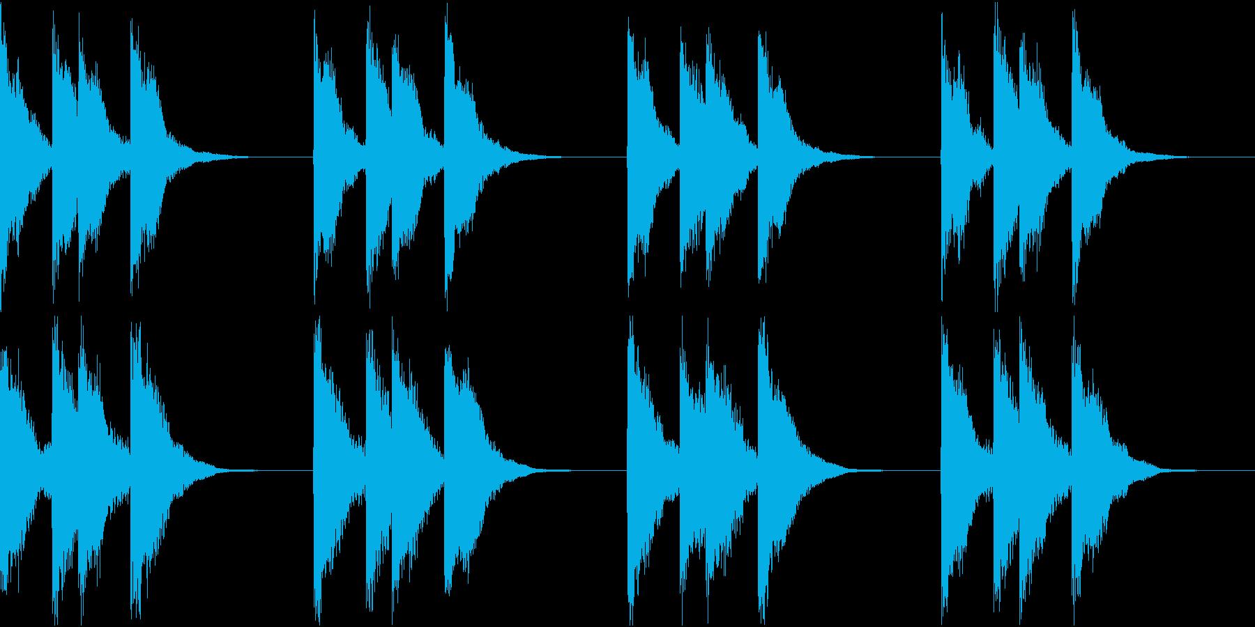 シンプル ベル 着信音 チャイム A-7の再生済みの波形