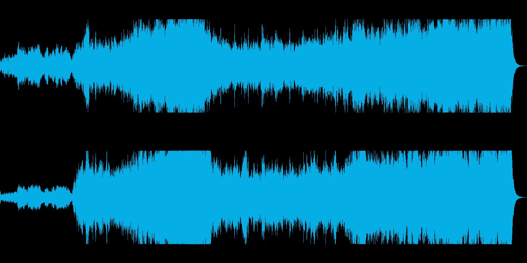 雄大で豪華なシンセ管楽器サウンドの再生済みの波形